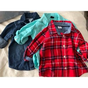 Baby Gap and Carters Boys button ups
